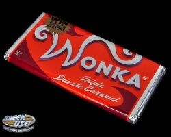 Screen-used Wonka candy bar from Charlie and the Chocolate Factory