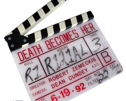 Original clapperboard from Death Becomes Her