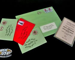 Whobilation invitation & mail from How the Grinch Stole Christmas