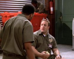 """""""International Parcel Service"""" shirt from King of Queens"""