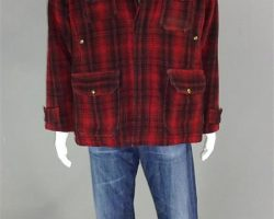 CREED THE MOVIE CLOSET WOOLRICH COAT SWEATER & ADRIANO GOLDSCHMIED GOLD PANTS