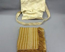 MAGNIFICENT 7 SCREEN USED SEWING BAG & SHAWL