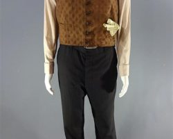 MAGNIFICENT 7 BOGUE WORN STUNT DBL VEST SHIRT PANTS SUSPENDERS TIE HAT SHOES CH3