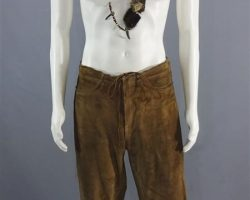 MAGNIFICENT 7 RED HARVEST MARTIN SENSMEIER SCREEN WORN PANTS & NECKLACE