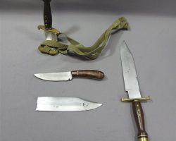 MAGNIFICENT 7 JACK HORNE VINCENT D'ONOFRIO LARGE & SMALL KNIVES & VFX KNIFE RIG