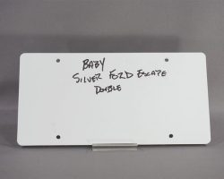 BABY DRIVER BABY ANSEL ELGORT SCREEN USED SILVER FORD LICENSE PLATE SET