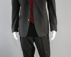 BABY DRIVER BATS JAMIE FOXX PRODUCTION WORN SUIT & SHIRT