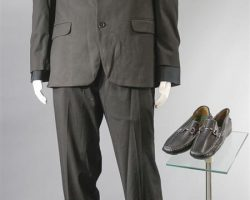 BABY DRIVER GOON #4 SCREEN WORN SUIT SHIRT & SHOES CH 1 SC 55 & 56