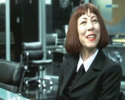 Mindy Sterling black suit from Austin Powers