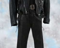 "Arnold Schwarzenegger signature ""T-800 Terminator"" costume from Terminator 2: Judgment Day"