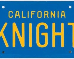 K.I.T.T.s screen-used license plate from Knight Rider