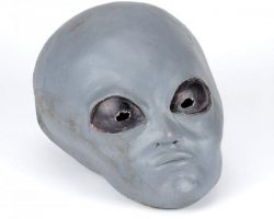 The X-Files alien head, alien abduction X-file & photo