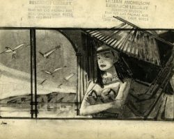1963 Cleopatra collection of storyboard drawings
