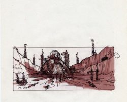 Original storyboard artwork from Total Recall
