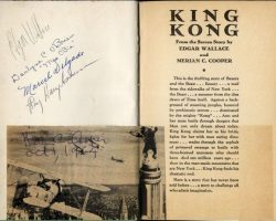 King Kong photoplay edition signed by the cast