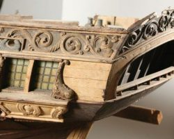 Sailing ship miniature attributed to The Spanish Main