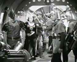 Guard helmets from Flash Gordon Conquers the Universe