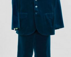 Austin Powers blue velvet suit from Austin Powers