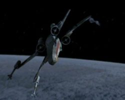 X-Wing Fighter filming miniature from Star Wars