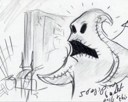 9 original storyboards from Nightmare Before Christmas