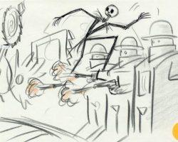 9 original storyboards from Nightmare Before Christmas