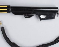Collection of prop guns from Ultraviolet