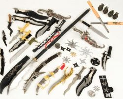 Arsenal of weapons from The Spirit
