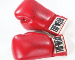 Sylvester Stallones boxing gloves from Rocky III