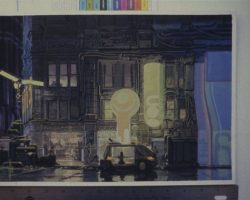 Blade Runner color transparencies of set & prop designs