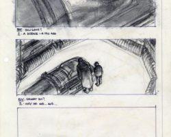 Sherman Labby storyboard of deleted scene Blade Runner