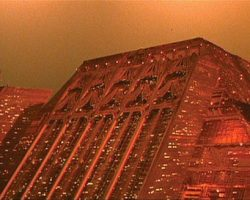 Exterior panel of the Tyrell building from Blade Runner