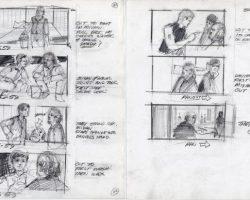 Original Richard Lasley storyboard art – The Karate Kid