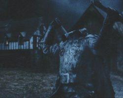 Headless Horseman throwing dagger from Sleepy Hollow