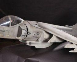 Harrier jet filming miniature from True Lies