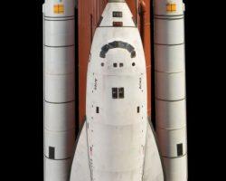Space Shuttle filming miniature from RocketMan