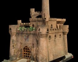 Large scale miniature golf castle from Stuart Little