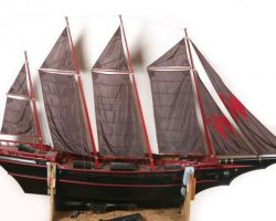 Full-size sailing ship miniature from Stuart Little