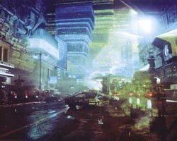 Blade Runner retro-building miniature