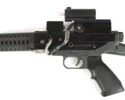 Keanu Reeves gun from Johnny Mnemonic