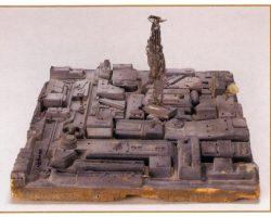 Future cityscape miniature set piece from Blade Runner