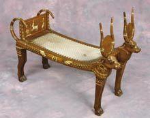 Bench from Nefretiris bedroom in The Ten Commandments