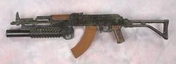Sylvester Stallone prop stunt rifle from Rambo III