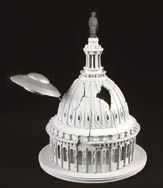 Capitol dome and saucer recreation from Earth vs. The Flying Saucers
