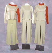Trio of Moonbase Alpha uniforms from Space: 1999