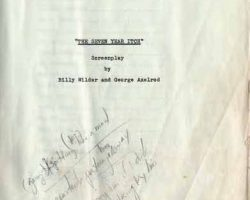 Marilyn Monroe original Seven Year Itch Shooting Script