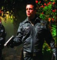 Matt LeBlanc leather military flight suit Lost in Space