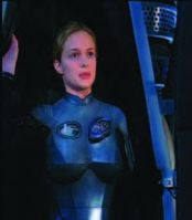 Heather Graham electronic flight suit – Lost in Space