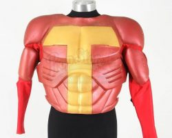 Jingle All The Way Turboman Arnold Schwarzenegger Muscled Costume Top