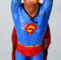 Miniature SFX Superman figure used in Superman II