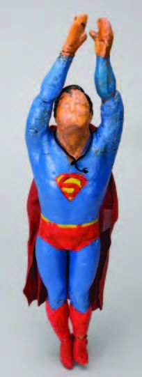 Miniature SFX Superman figure used in Superman II